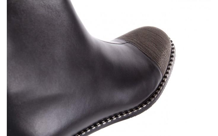 Botki sca'viola f-93 black, czarny, skóra naturalna  - worker boots - trendy - kobieta 9