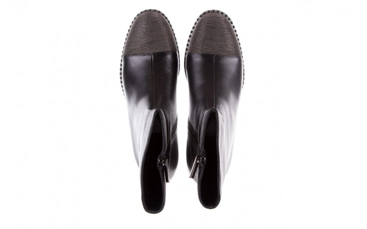 Botki sca'viola f-93 black, czarny, skóra naturalna  - sztyblety - botki - buty damskie - kobieta 5
