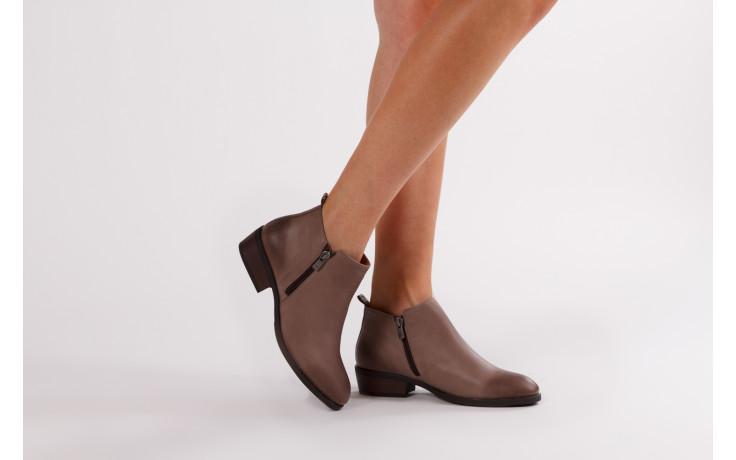 Botki bayla 161 061 2003 14 hat 161179, beż, skóra naturalna  - skórzane - botki - buty damskie - kobieta 2