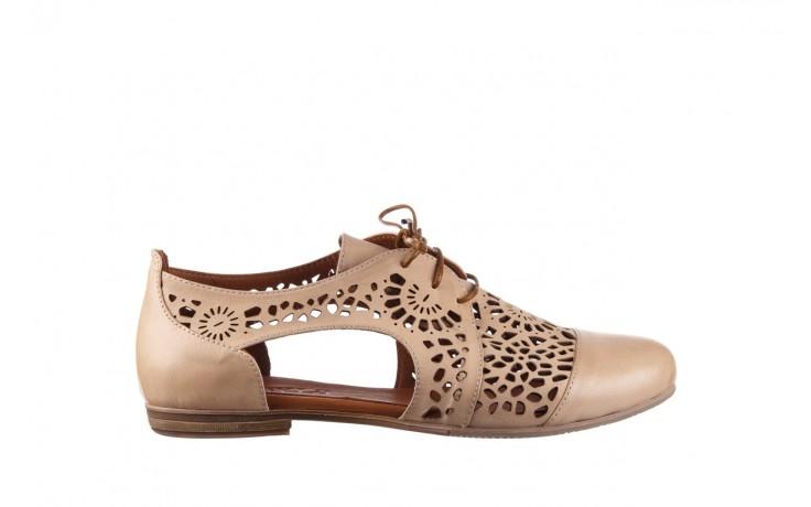 Półbuty bayla-161 066 417 beige, beż, skóra naturalna - skórzane - półbuty - buty damskie - kobieta