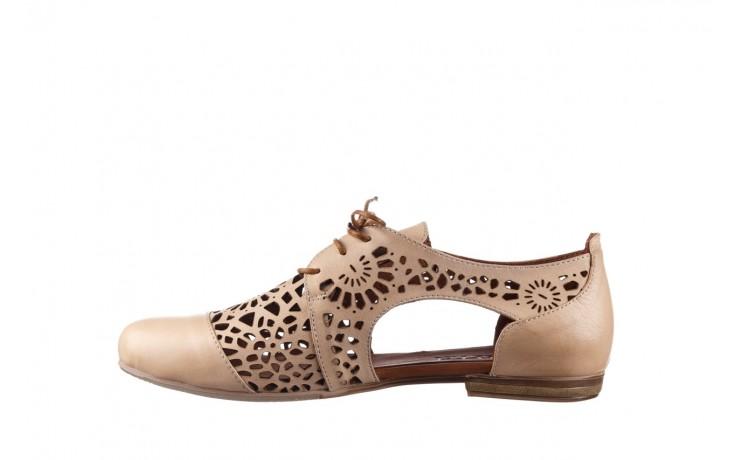 Półbuty bayla-161 066 417 beige, beż, skóra naturalna - sznurowane - półbuty - buty damskie - kobieta 2
