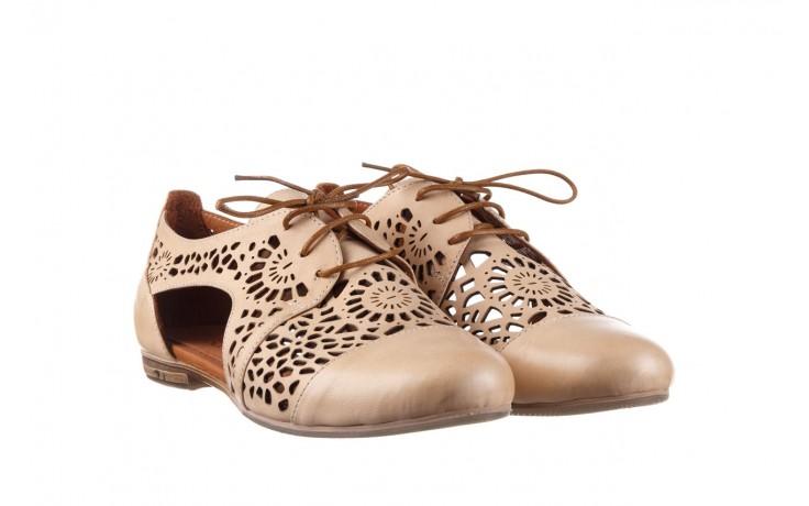 Półbuty bayla-161 066 417 beige, beż, skóra naturalna - sznurowane - półbuty - buty damskie - kobieta 1