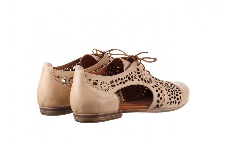 Półbuty bayla-161 066 417 beige, beż, skóra naturalna - sznurowane - półbuty - buty damskie - kobieta 3