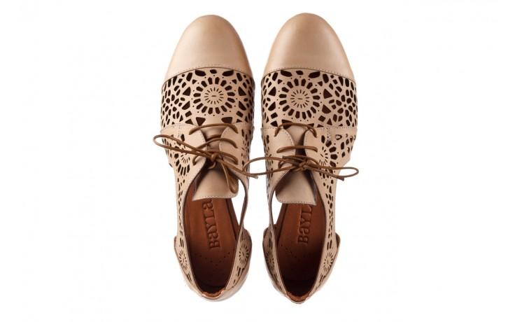 Półbuty bayla-161 066 417 beige, beż, skóra naturalna - sznurowane - półbuty - buty damskie - kobieta 4
