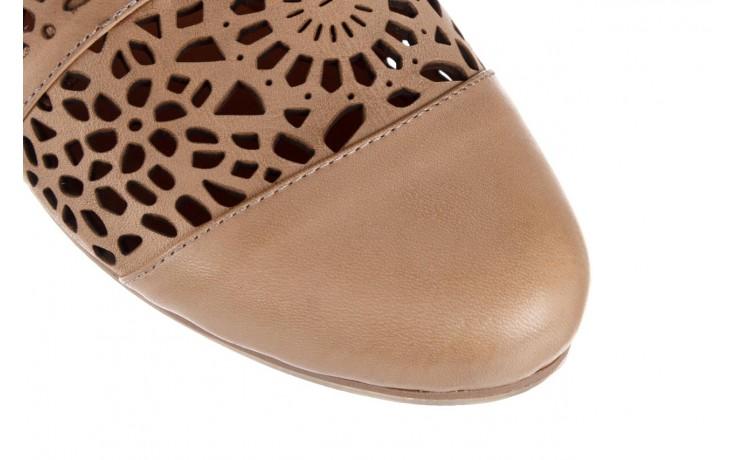 Półbuty bayla-161 066 417 beige, beż, skóra naturalna - sznurowane - półbuty - buty damskie - kobieta 5