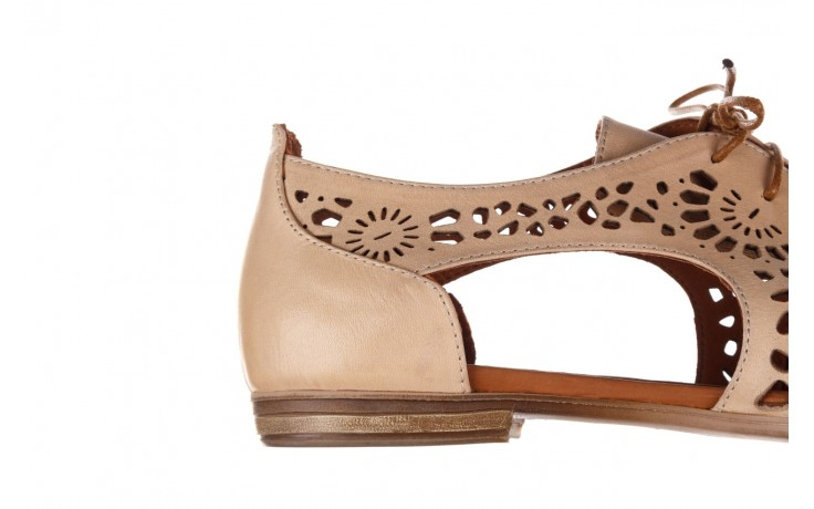 Półbuty bayla-161 066 417 beige, beż, skóra naturalna - sznurowane - półbuty - buty damskie - kobieta 6