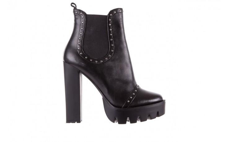Botki bayla-176 8557 czarne botki, skóra naturalna  - biker - botki - buty damskie - kobieta