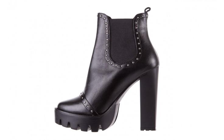 Botki bayla-176 8557 czarne botki, skóra naturalna  - biker - botki - buty damskie - kobieta 3