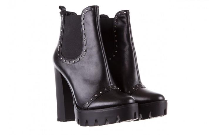 Botki bayla-176 8557 czarne botki, skóra naturalna  - biker - botki - buty damskie - kobieta 1