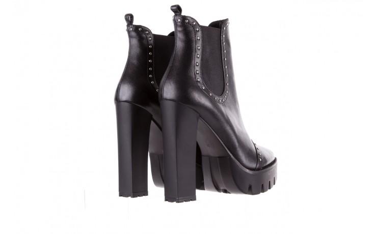 Botki bayla-176 8557 czarne botki, skóra naturalna  - biker - botki - buty damskie - kobieta 4