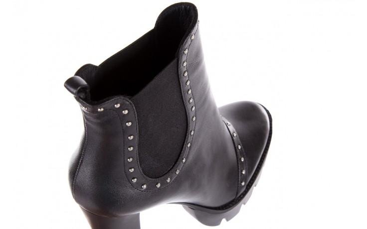Botki bayla-176 8557 czarne botki, skóra naturalna  - biker - botki - buty damskie - kobieta 8