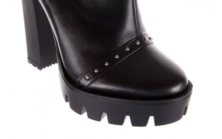 Botki bayla-176 8557 czarne botki, skóra naturalna  - biker - botki - buty damskie - kobieta 7