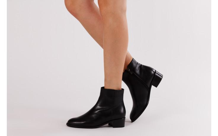 Botki bayla 161 077 47464 black 161183, czarny, skóra naturalna  - botki - buty damskie - kobieta 2