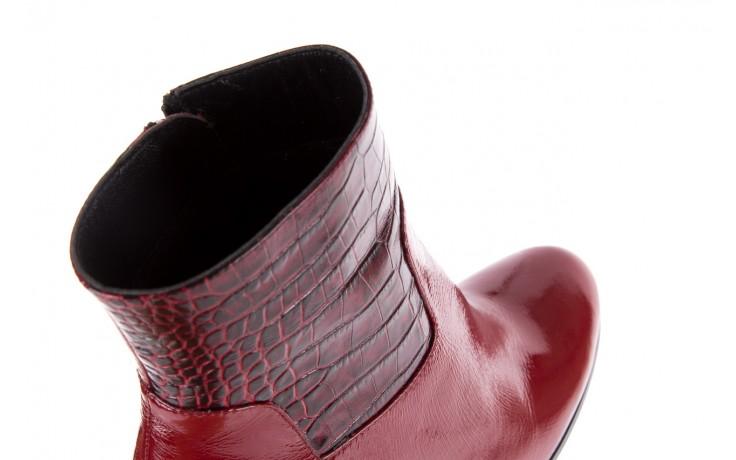 Botki bayla-176 8555 ciemnoczerwone botki, skóra naturalna  - bayla - nasze marki 6