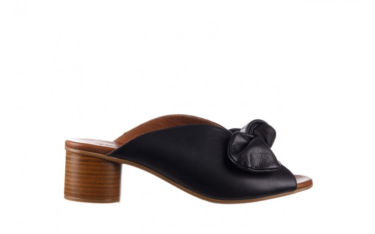 Klapki bayla-161 061 1029 black, czarny, skóra naturalna