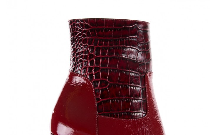 Botki bayla-176 8555 ciemnoczerwone botki, skóra naturalna  - bayla - nasze marki 9