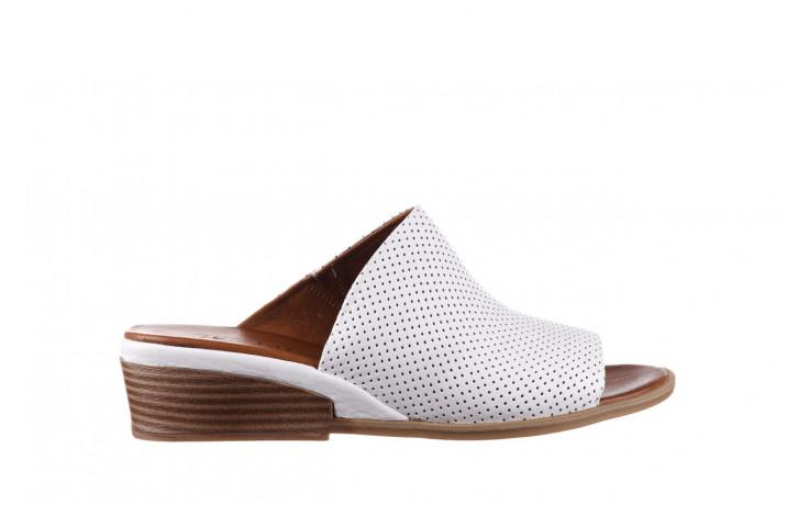 Klapki bayla-161 061 1609 white 21 161204, biały, skóra naturalna  - klapki - buty damskie - kobieta