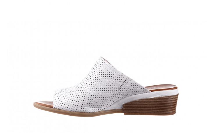 Klapki bayla-161 061 1609 white 21 161204, biały, skóra naturalna  - klapki - buty damskie - kobieta 2