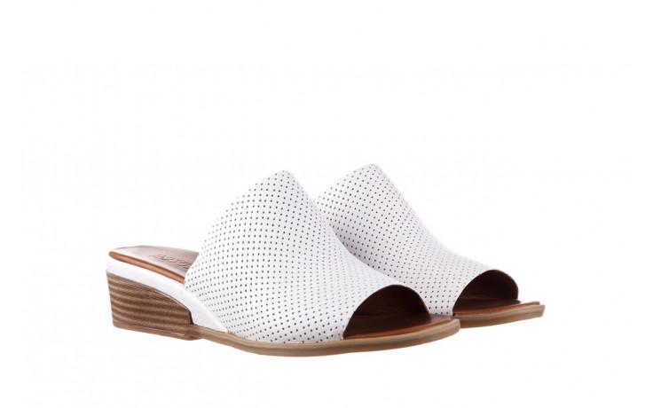 Klapki bayla-161 061 1609 white 21 161204, biały, skóra naturalna  - klapki - buty damskie - kobieta 1