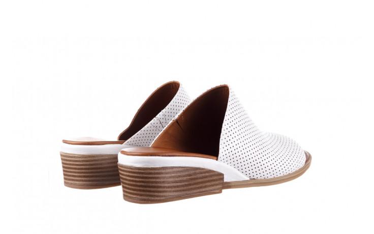 Klapki bayla-161 061 1609 white 21 161204, biały, skóra naturalna  - klapki - buty damskie - kobieta 3