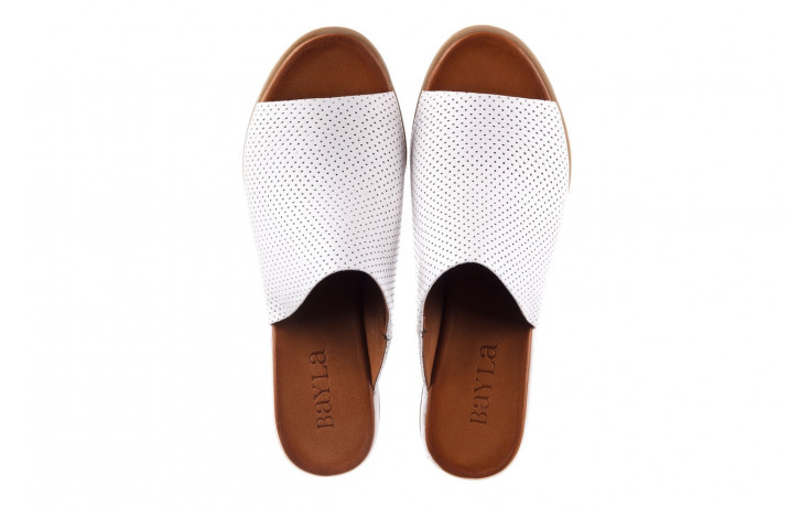 Klapki bayla-161 061 1609 white 21 161204, biały, skóra naturalna  - klapki - buty damskie - kobieta 4