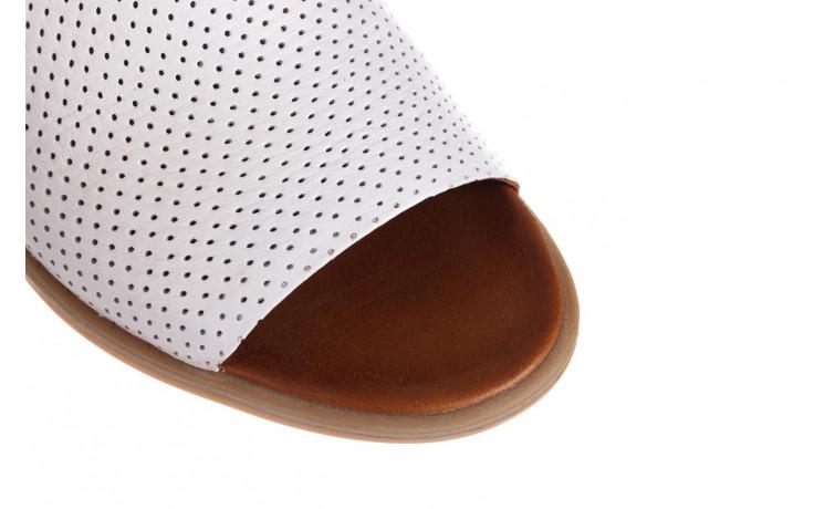 Klapki bayla-161 061 1609 white 21 161204, biały, skóra naturalna  - klapki - buty damskie - kobieta 5