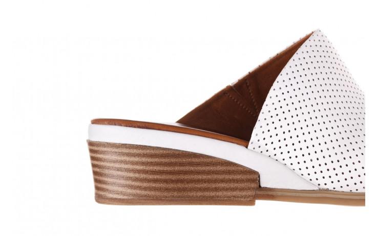 Klapki bayla-161 061 1609 white 21 161204, biały, skóra naturalna  - klapki - buty damskie - kobieta 6