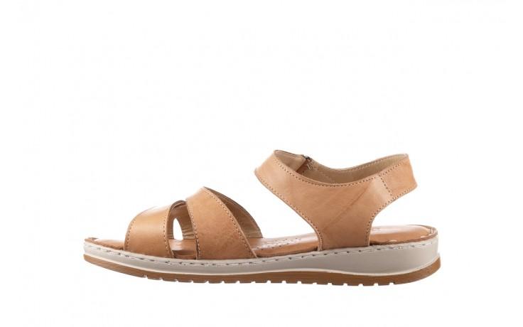 Sandały bayla-161 016 815 beige print, beż, skóra naturalna - sandały - buty damskie - kobieta 2