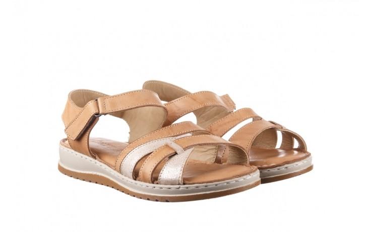 Sandały bayla-161 016 815 beige print, beż, skóra naturalna - sandały - buty damskie - kobieta 1
