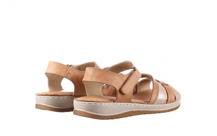 Sandały bayla-161 016 815 beige print, beż, skóra naturalna - sandały - buty damskie - kobieta 3
