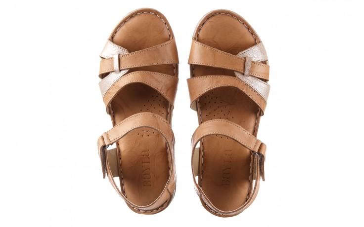 Sandały bayla-161 016 815 beige print, beż, skóra naturalna - sandały - buty damskie - kobieta 4