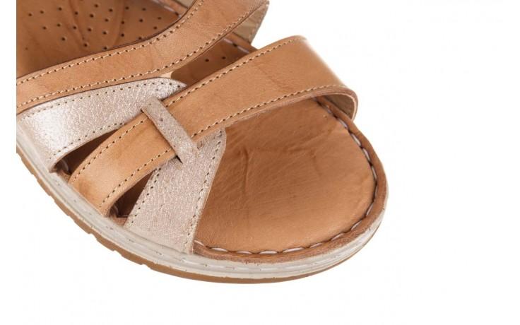 Sandały bayla-161 016 815 beige print, beż, skóra naturalna - sandały - buty damskie - kobieta 5