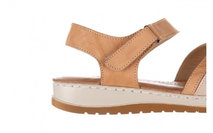 Sandały bayla-161 016 815 beige print, beż, skóra naturalna - sandały - buty damskie - kobieta 6