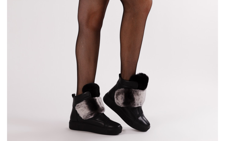 Śniegowce bayla 161 017 2021 02 black 161161, czarny, skóra naturalna  - śniegowce - śniegowce i kalosze - buty damskie - kobieta 2