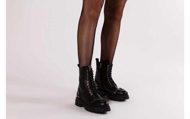 Trzewiki bayla 161 050 7255  01 black 161176, czarny, skóra naturalna  - trzewiki - buty damskie - kobieta 2