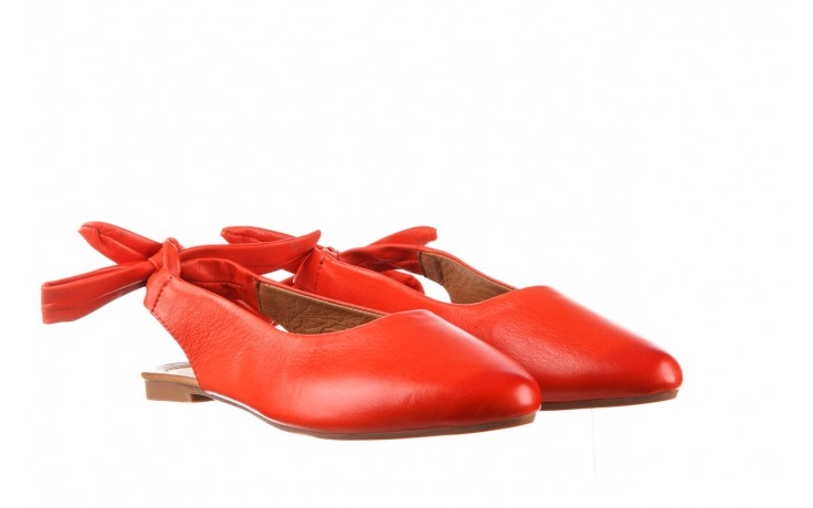 Sandały bayla-161 066 504 310 red, czerwony, skóra naturalna 1