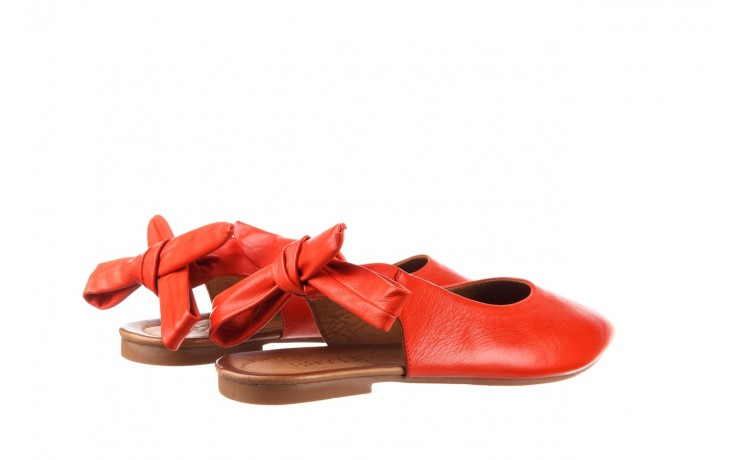 Sandały bayla-161 066 504 310 red, czerwony, skóra naturalna 3