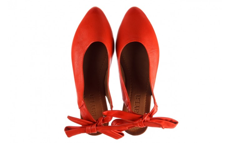 Sandały bayla-161 066 504 310 red, czerwony, skóra naturalna 4