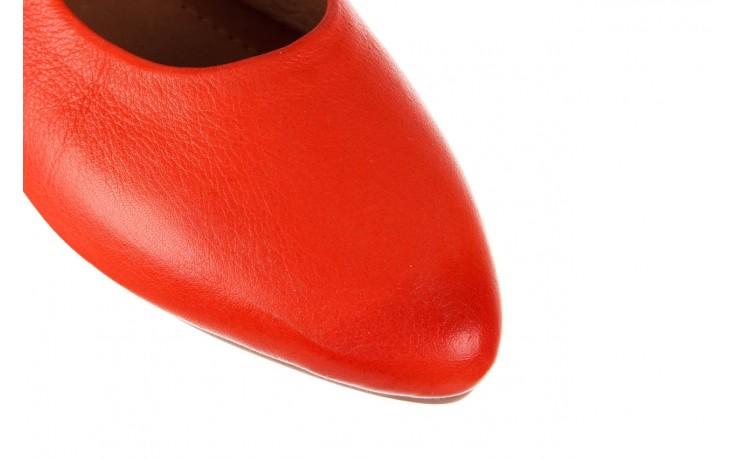 Sandały bayla-161 066 504 310 red, czerwony, skóra naturalna 5