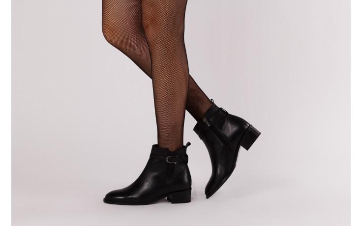 Botki bayla 161 077 48461 black 161184, czarny, skóra naturalna  - skórzane - botki - buty damskie - kobieta 2