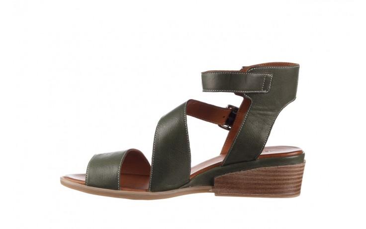 Sandały bayla-161 061 1605 dark olive tan, zielony, skóra naturalna - na koturnie - sandały - buty damskie - kobieta 2