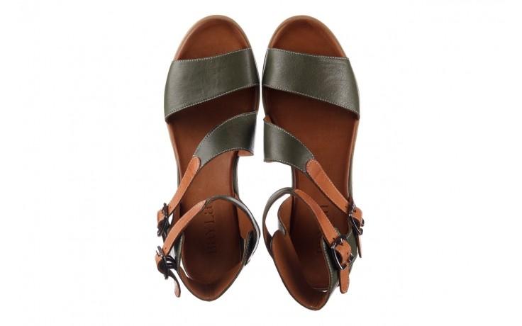 Sandały bayla-161 061 1605 dark olive tan, zielony, skóra naturalna - koturny - buty damskie - kobieta 4