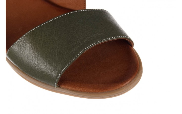 Sandały bayla-161 061 1605 dark olive tan, zielony, skóra naturalna - koturny - buty damskie - kobieta 6