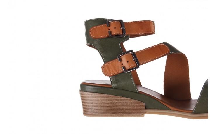 Sandały bayla-161 061 1605 dark olive tan, zielony, skóra naturalna - koturny - buty damskie - kobieta 7