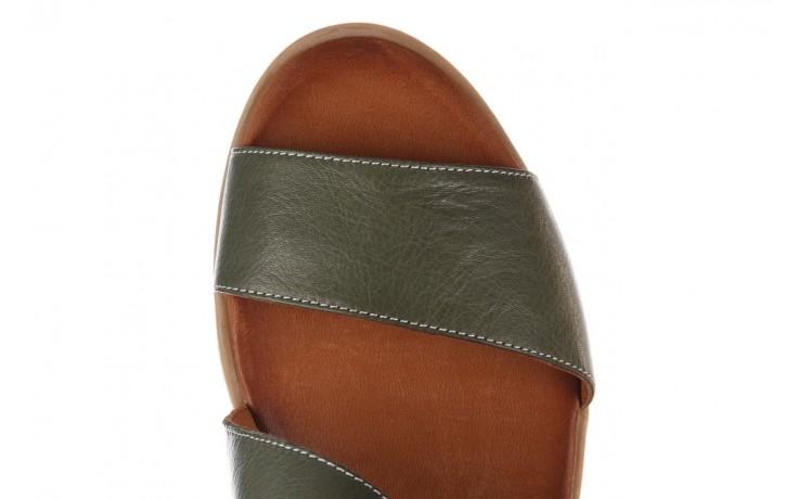 Sandały bayla-161 061 1605 dark olive tan, zielony, skóra naturalna - koturny - buty damskie - kobieta 5