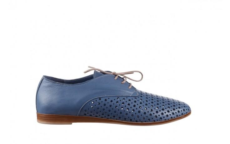 Półbuty bayla-161 138 80129 denim, niebieski, skóra naturalna - skórzane - półbuty - buty damskie - kobieta