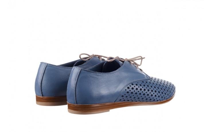 Półbuty bayla-161 138 80129 denim, niebieski, skóra naturalna - skórzane - półbuty - buty damskie - kobieta 3
