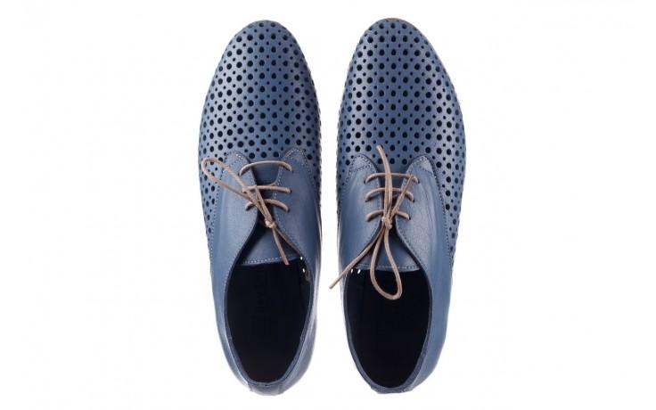 Półbuty bayla-161 138 80129 denim, niebieski, skóra naturalna - skórzane - półbuty - buty damskie - kobieta 4