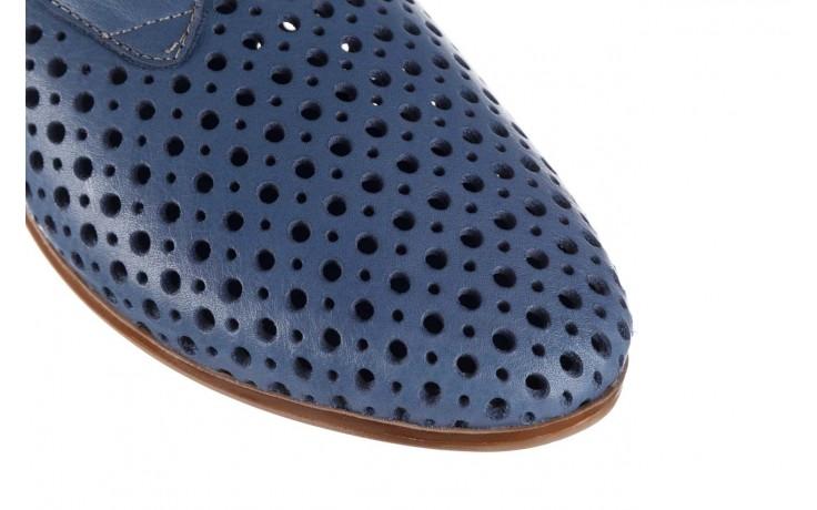Półbuty bayla-161 138 80129 denim, niebieski, skóra naturalna 6