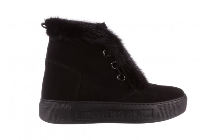 Śniegowce bayla 161 017 2032 black suede 161163, czarny, skóra naturalna  - trendy - kobieta
